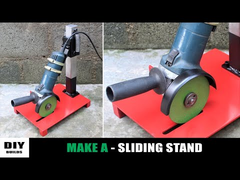 Make A 2 In 1 Angle Grinder Sliding Stand / Chop Saw Stand | DIY