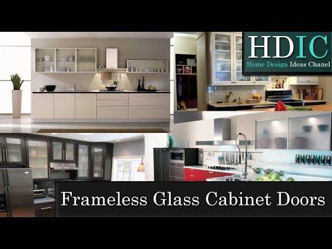 Frameless Glass Cabinet Doors - YouTube