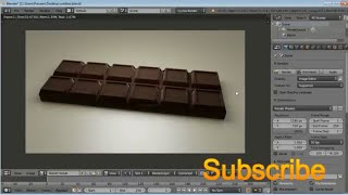 [time lapse] blender modeling tutorial : chocolate bar modeling in blender