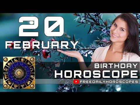 February 20 - Birthday Horoscope Personality