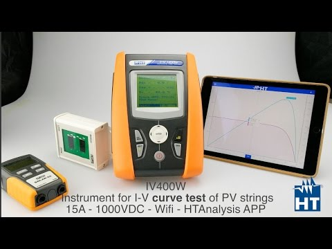 PV Solar installation I-V Curve tracer of photovoltaic HT Instruments