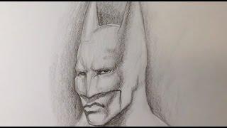 dark easy drawings batman knight draw fine
