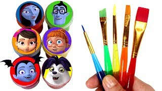 Vampirina Drawing & Painting Learn Colors with Vee Wolfie Poppy Bridget Oxana Boris Surprise Toys