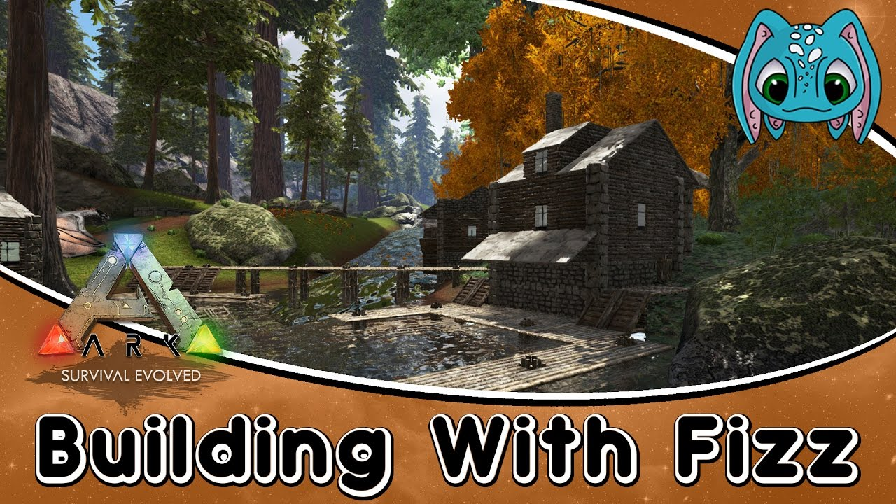ARK: The Volcano Map Building w/ Fizz :: Redwood Fishing Town Part 4