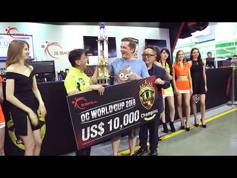 The Champion of G.SKILL OC World Cup 2018 Goes To...
