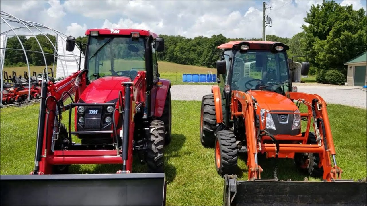 TYM T654 Tractor vs  Kioti NX6010 (Review of TYM Tractor) PART 1