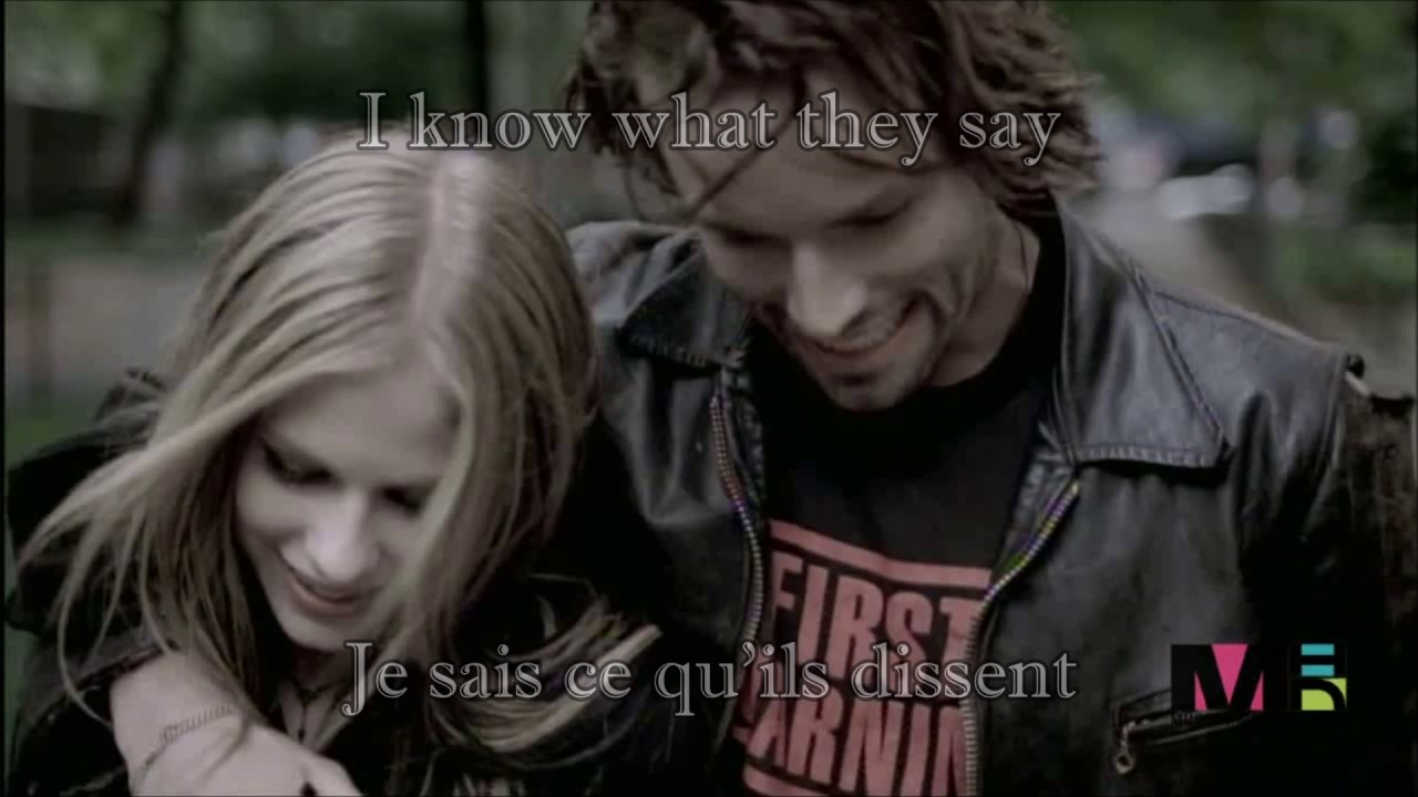 MY HAPPY ENDING| Avril Lavigne lyrics in French/English| MA FIN HEUREUSE| Traduction en français - YouTube