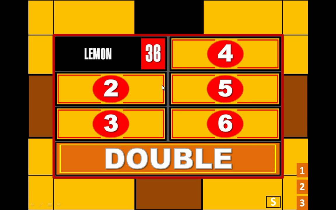 My Family Feud Powerpoint Game Ppt2007 Only Youtube