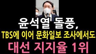 [성창경TV] TBS에 이어 문화일보 조사에서도 윤석열…