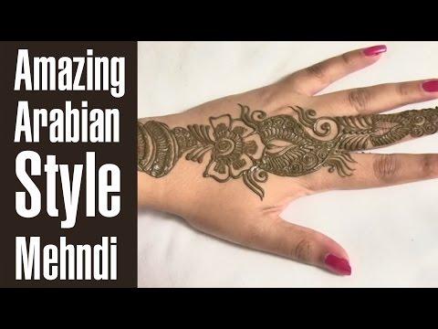 Amazing Arabian Style Mehndi Design Tutorial