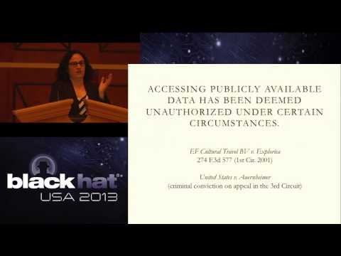 Black Hat USA 2013 - What Security Researchers Need to Know About Anti-Hacking Law