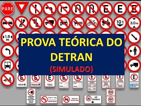 PROVA TEÓRICA DO DETRAN. SIMULADO
