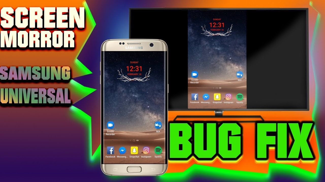 Smart View (Screen Mirror Cast) Issue Bug Fix For All Samsung Devices  Universal [ROOT REQUIRED]