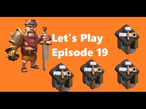Clash of Clans - Let's Play Episode 19: 4TH BUILDER, Mushrooms are dumb, upgrades!