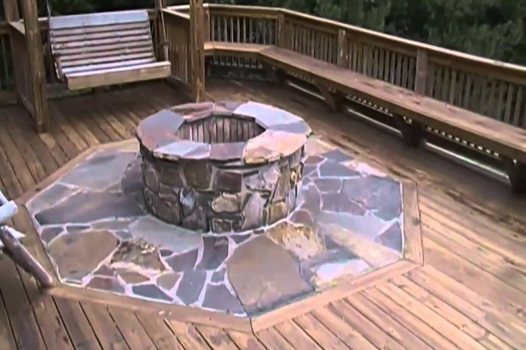 Building A Fire Pit On A Deck Youtube