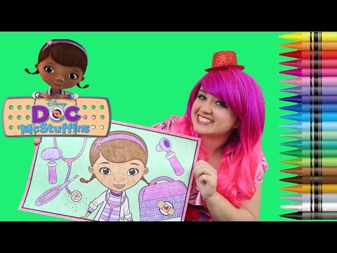 Coloring Doc McStuffins GIANT Coloring Book Page Crayola Crayons | KiMMi THE CLOWN
