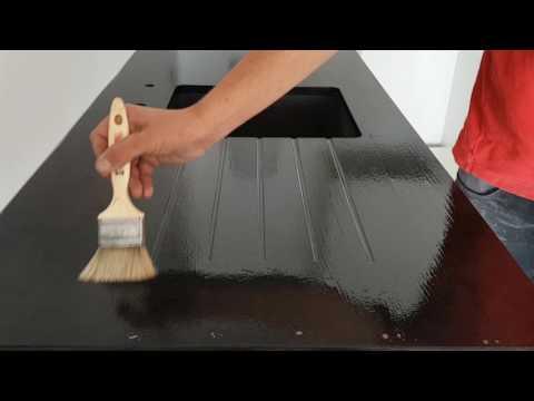hydrofuger un plan de travail granit youtube. Black Bedroom Furniture Sets. Home Design Ideas