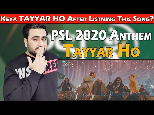 Tayyar Ho Reaction | Official Anthem | HBL Pakistan Super League 2020
