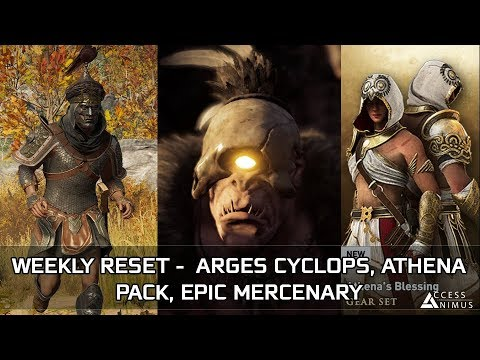 Assassin's Creed Odyssey - January Week 4 Reset – Arges Cyclops, Epic Mercenary, Athena Pack