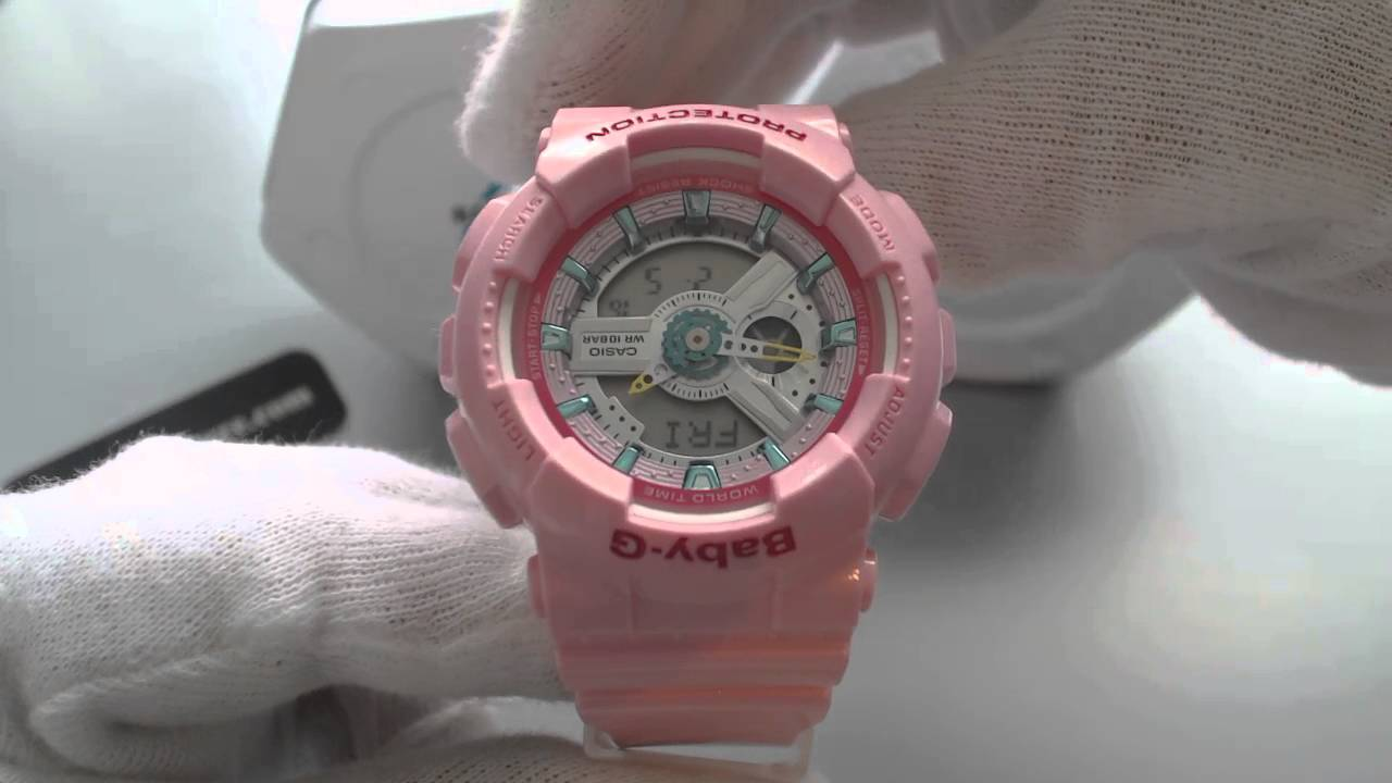 casio baby g digital analog pink sports watch ba110ca 4a. Black Bedroom Furniture Sets. Home Design Ideas