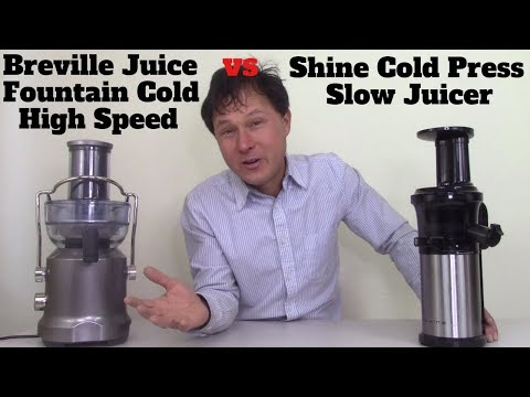 Breville Juice Fountain Cold Vs Shine Cold Press Juicer Review Comparison