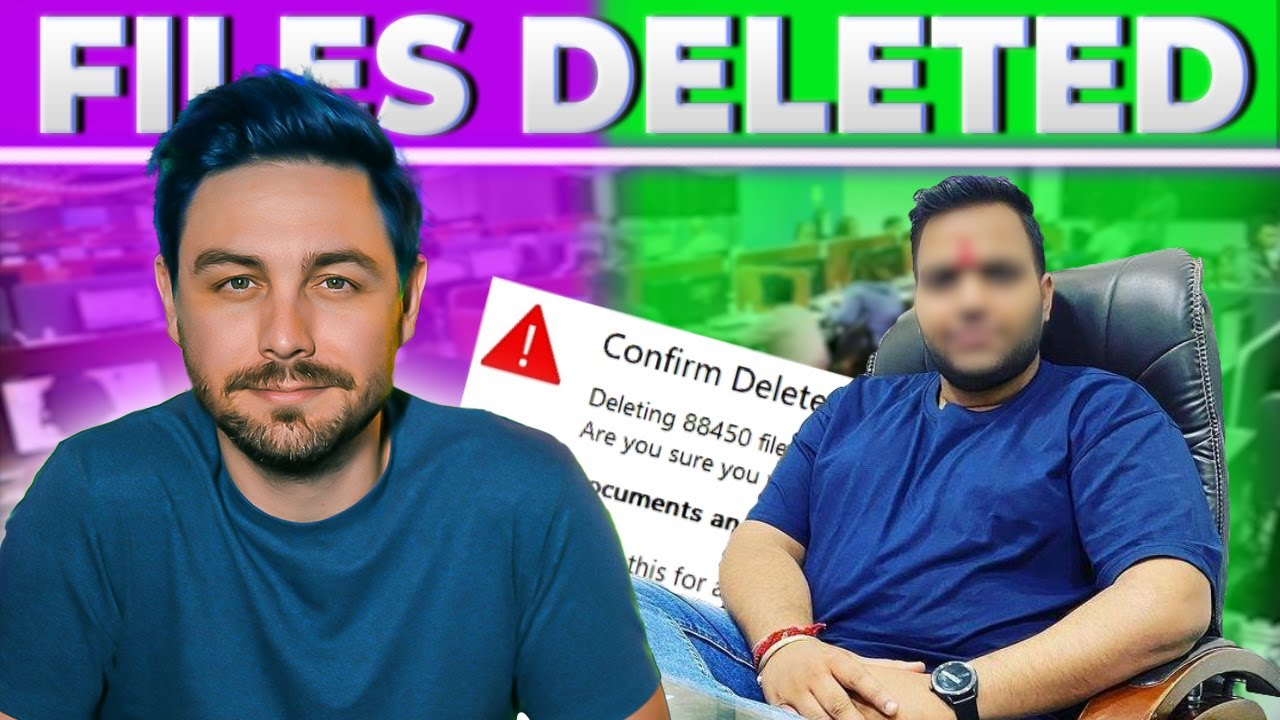I DELETE HIS FILES  (Scammers operation destroyed)