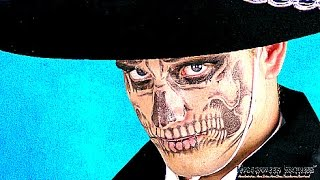 Creating a Day of the Dead Skull Face Using Temporary Tattoos