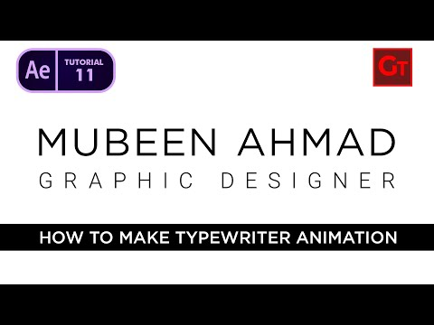Typewriter Animation in Adobe After Effect Urdu / Hindi - Tutorial 11 thumbnail