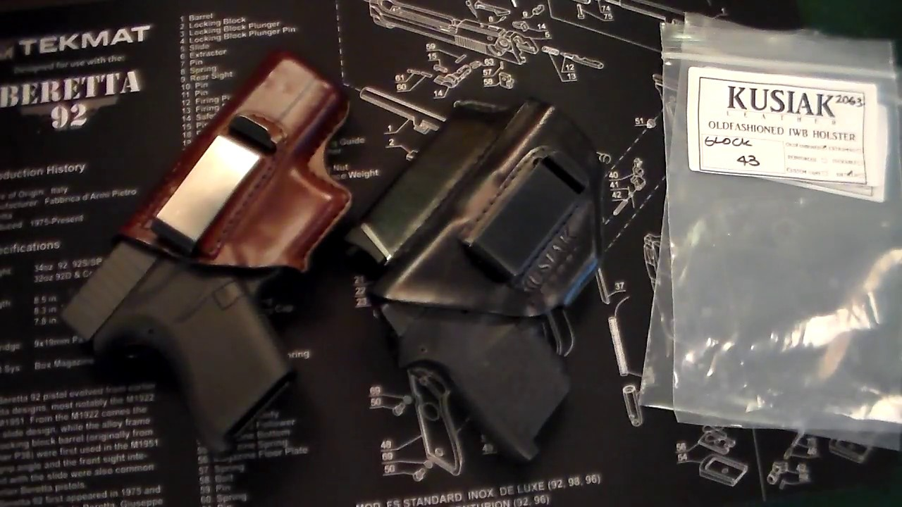 Kusiak Leather Holsters for Glock 43 & S&W Bodyguard 380!
