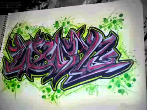 dozyz graffiti en cuaderno