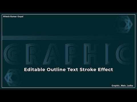 Editable Stroke Outline Text Effect Adobe Illustrator Tutorial | Stroke Outline Text | Editable Text thumbnail