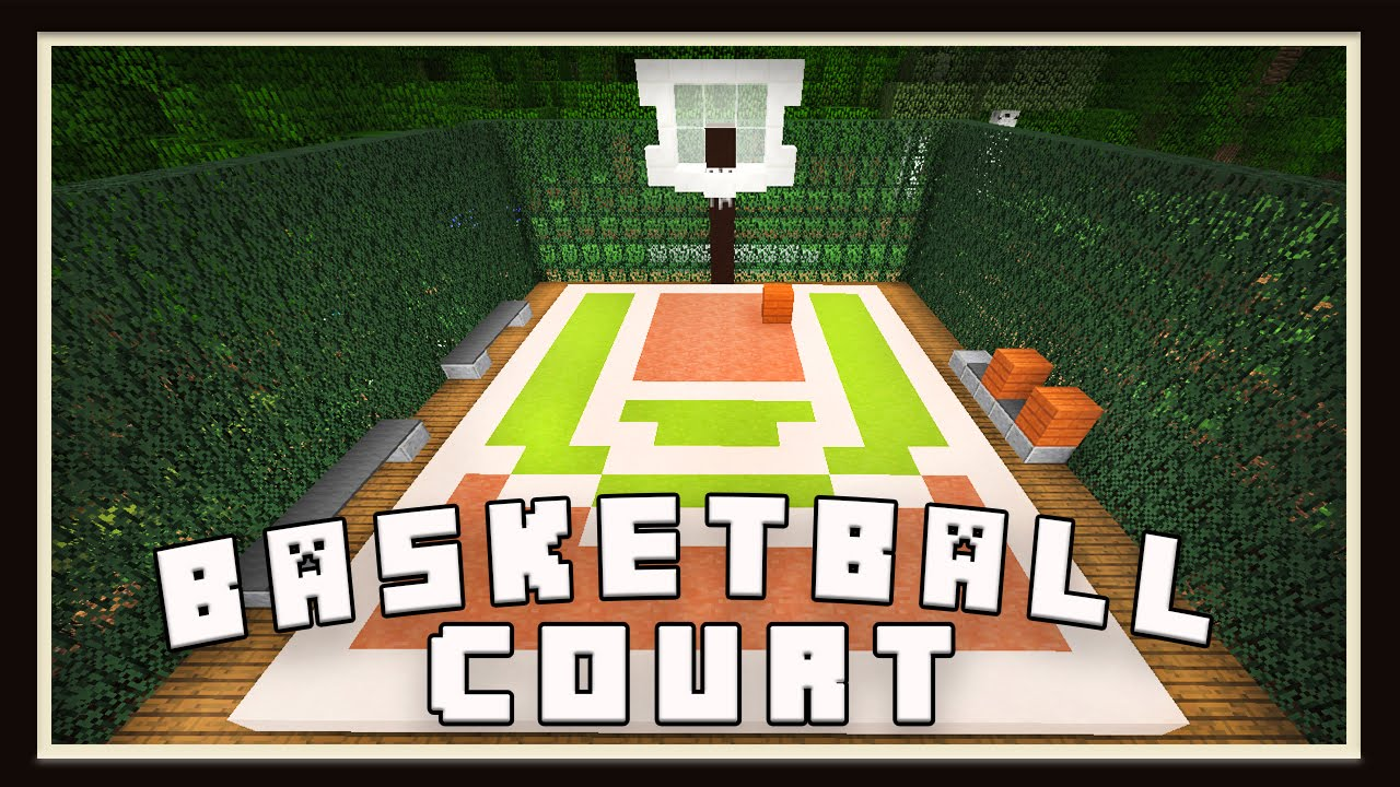 Minecraft: Basketball Court Design (Modern House Tutorial ...