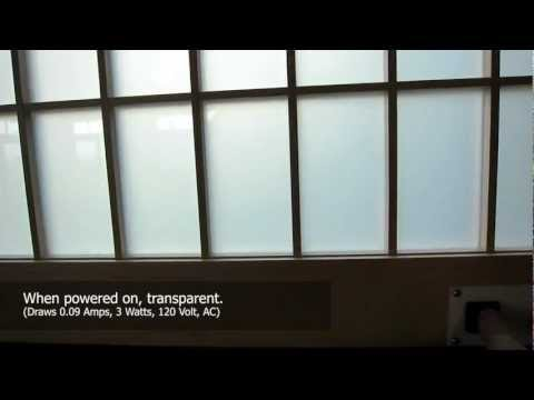 A High Tech Shoji Screen (made from Smart Glass, electrically switchable glass)