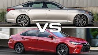2017 Genesis G80 vs Toyota Camry смотреть