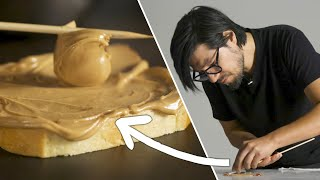 How A Food Stylist Makes A Peanut Butter & Jelly Sandwich • Tasty