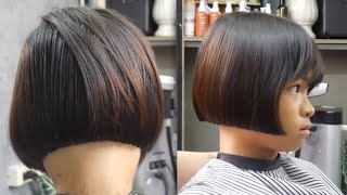 Short Bob haircut for girl student ตัดผมบ็อบ สำหรับเด็กนักเรียนหญิง ม.1