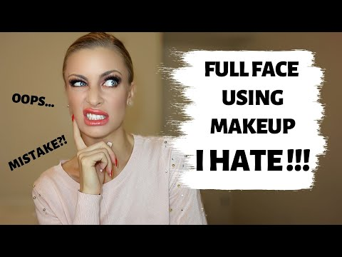 FULL FACE USING MAKEUP I HATE 😬 !!!! | Announcing giveaway winner !!