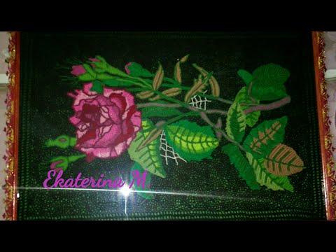 Вязаные крючком тюльпаны на панно схемы с описанием