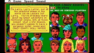 """Hoyle (PC/DOS) Conversation Between Famous Sierra Game Characters """"Crazy Eights, Idle"""""""