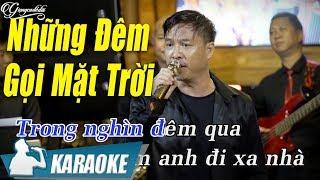 Những Đêm Gọi Mặt Trời Karaoke Quang Lập (Tone Nam) | Nhạc Vàng Bolero Karaoke