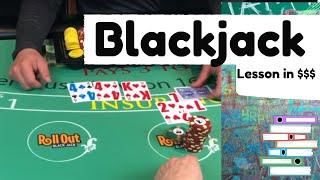 The Wife won't like this.... Horrible Blackjack Run - Never Split 10's