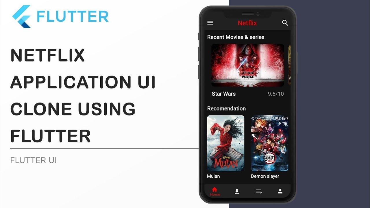 Flutter Netflix Clone App UI - Speed Code