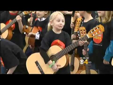 Little Kids Rock & Bohemian Foundation donate guitars to Poudre School District - CBS Denver