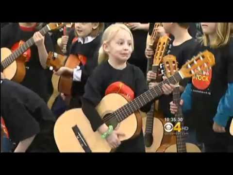 Little Kids Rock & Bohemian Foundation donate guitars to Poudre School District - CBS Denver
