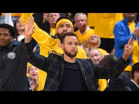 Steph Celebrates Even Before Klay Knocks Down a 3 | Spurs vs Warriors - Game 2 | 2018 NBA Playoffs