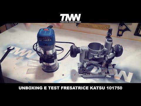 Unboxing E TEST Fresatrice A Mano, Rifilatore KATSU 101750