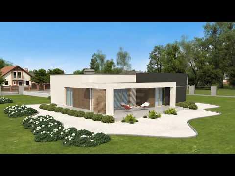 Проект одноэтажного дома с плоской крышей ZX105 B от Z500