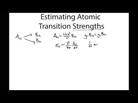 Estimating the Strength of Atomic Transitions