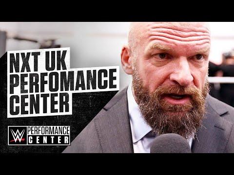TRIPLE H and NXT Coach MATT BLOOM speak at the NXT UK Performance Center