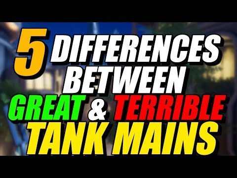 5 Differences Between Great & Terrible TANK Mains | Overwatch Season 10 Competitive Tanks Tips